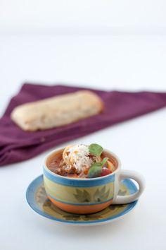 Mamma Mia Tortellini Soup - A lasagna lover's favorite soup recipe