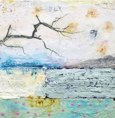 Encaustic Art by Angela Petsis; Mixed media painting; original art.