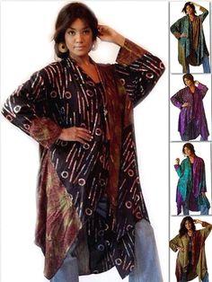 U808 Jacket Cascade Lagenlook Boho Batik Print Made 2 Order Choose Size Amp Color | eBay