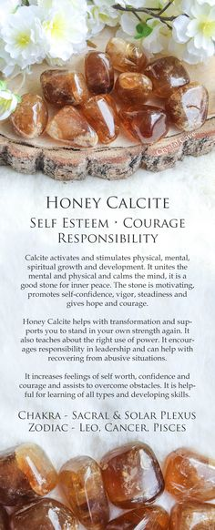 Honey Calcite Crystal Tumbled Stone Polished Stone Gemstone Self Esteem Courage Responsibility Gems And Minerals, Crystals Minerals, Crystals And Gemstones, Stones And Crystals, Gem Stones, Robert Kiyosaki, Honey Calcite, Calcite Crystal, Quartz Crystal