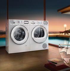 Our #washing machines and #dryers work #fast and save energy. // Unsere #Waschmaschinen und #Trockner arbeiten #schnell und sparen Energie. #Extraklasse #varioPerfect