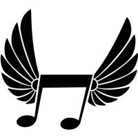Decorative black and white winged musical note in flat style black filled artwork made with a big music note and stripy wings behind the symbol. Musical Notes Clip Art, Music Notes, Free Vector Images, Vector Art, Billboard Albums, 1 Clipart, Notes Free, Music Symbols, Album Sales