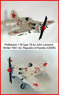 Polikarpov I-16 /by John Lamarck #LEGO #plane