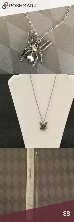 30 days till Halloween  Spider necklace ~ Chain does have a little discoloration.. but still very cute and wearable  please feel free to ask any questions Jewelry Necklaces