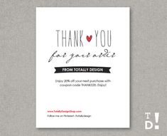 Business thank you cards template instant download naturally business thank you cards instant download lovingly artsy wajeb Images