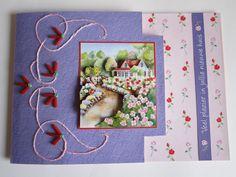 3D & embroidery card garden
