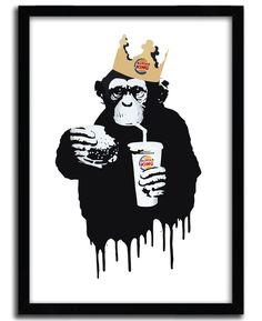 New Print Artist in your shop : @thirstybstrd// available inhttps://goo.gl/G5lWmb // #streetart #edition #kolintribu #bstrd #art #monkey #pochoir