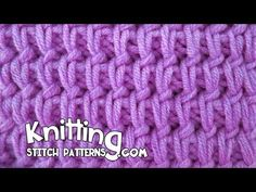 Watch this video to learn how to knit the Rank and File stitch.