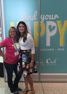 Mrs. Chrissy Weems and myself at Origami owl national convention 2015!!