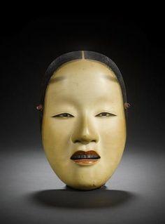 A wood Noh mask of Ko-Omote By Nagasawa Ujiharu century Japanese Noh Mask, Noh Theatre, Dracula Castle, Female Dancers, Masks Art, Japanese Artists, Tribal Art, Chinese Art, Japan Travel
