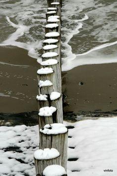 Winter in Westkappel foto gemaakt door Vincent www.FanvanZeeland.nl