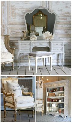 I love french furniture.  My daughter has a French Provincial set just like I had growing up :)