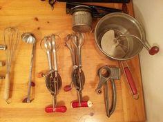 Lot 30 Vintage Primitive Wood Handle Kitchen Utensils Tools Foley Ecko Acme Rare