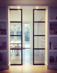 steel doors in ensuite cupboard design ww interior styling & advice - steel doors in ensuite cupboard design ww interior styling & advice - Sliding Glass Door, Sliding Doors, Glass Pocket Doors, Front Doors, Barn Doors, Style At Home, Home Interior, Interior Design, Interior Doors