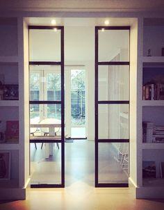 stalen deuren in ensuite kast ontwerp ww interieur styling & advies