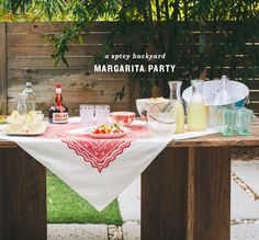 a spicy margarita party