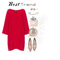 """""""Rose Gold & Red"""" by nansy39 on Polyvore featuring мода, Mat, Nicholas Kirkwood, Halston Heritage, Christian Dior и Sonia Rykiel"""