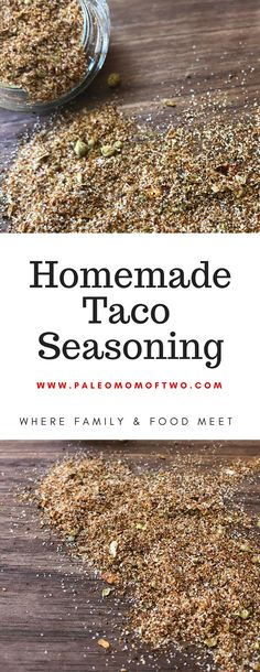 Enjoy this homemade taco seasoning on your next taco Tuesday {or any day of the week}! Whether it's beef, chicken, shrimp, or a veggie, this seasoning will bring on the flavor! Naturally free of grains, gluten, dairy, preserves, additives, chemicals, sugars, and all things processed.