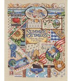 Janlynn Summer Sampler Cntd X-Stitch Kit: counted cross stitch kits: cross stitch: needle arts: Shop | Joann.com