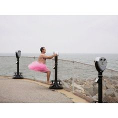 The Tutu Project - raising money for breast cancer research and awareness.  One man's way of making his wife's suffering a little more bearable and raising money for a worthwhile cause at the same time.  http://www.thetutuproject.com/