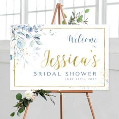#bridalshower #bridalshowerdecor #bridalshowersign #bridalshowersigns #weddingshowersigns #welcome #welcomesign #bachelorettesigns #bachelorettedécor #bachelorettesign #bridalluncheon #signs #printable #diy #lavender #blue #eucalyptus Bridal Shower Welcome Sign, Bridal Shower Signs, Wedding Welcome Signs, Baby Shower Signs, Baby Blessing, Eucalyptus, Photo Booth Frame, Floral Theme, Cream Roses