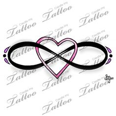 Marketplace Tattoo Eternal Love Infinity Heart Design #15434 | CreateMyTattoo.com