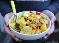 Recette Poulet à l'ananas, curry et coco / Recipe chicken with pineapple, curry and coconut milk
