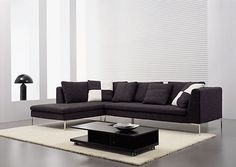 Modern Black Sectional Sofa Large Extra Large Sectional
