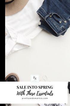 SALE INTO SPRING #springfashion #springessentials #sales #springstaples #prettyandsmartco #prettyandsmartfashion Fast Fashion, Fashion Art, Spring Fashion, New Tone, Linen Blazer, Pleated Midi Skirt, Collar Blouse, Fashion Essentials, Dress For You