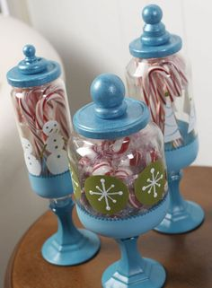 Christmas Craft: Apothecary Candy Jars