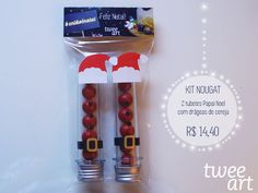 2 tubetes com drágeas (divinas) de cereja da Nougat - Complexo gastronômico.