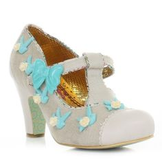 #Irregular_Choice Fresh Cut Grass #Shoes - Cream. £75