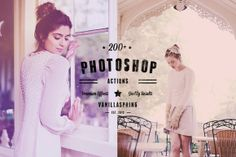 200+ Photo Effects PS Actions by VanillaSpring on Creative Market