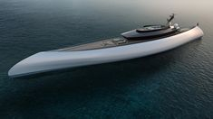Futuristic Superyacht Styled on a Dugout Canoe by Oceanco