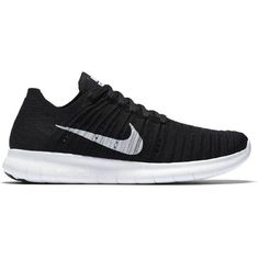 Nike Wmns Nike Free Rn Flyknit ($130) ❤ liked on Polyvore featuring grip shoes, nike, traction shoes, light weight shoes and print shoes