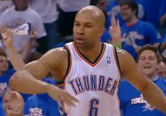 Oklahoma City Thunder re-sign Derek Fisher Derek Fisher, Oklahoma City Thunder, Highlights, Sign, Sports, Hs Sports, Luminizer, Signs, Hair Highlights