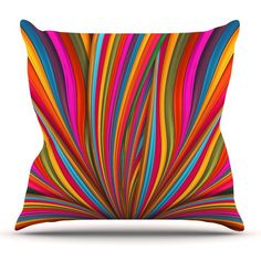 Kess InHouse Danny Ivan Color Mess 23 x 23 Square Floor Pillow