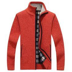 2019 New Men s Sweaters Autumn Winter Warm Cashmere Wool Zipper Cardigan  Sweaters Man Casual Knitwear Sweatercoat male clothe b9035bacd487