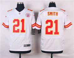 Nike Kansas City Chiefs  21 Sean Smith White Elite Jersey e18daad0f