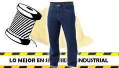 Jean industrial 14 onzas seguridad industrial feryseg