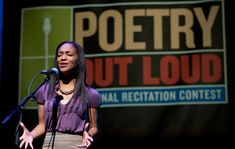 """I love the way I can take my audience on a journey with me while speaking. It creates such vivid images and encourages us to really think about our own lives and what it really means for us, individually, to be free."" Interview with Poetry Out Loud winner Amber Rose Johnson."
