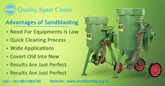 The advantages of sandblasting are: Quick Cleaning Process, Need For Equipment is Low, Wide Applications,Covert Old into New, Profiling of Metallic Surfaces etc. Sand Blasting Machine, Did You Know, Metallic, Surface, Organization, Cleaning, Top, Instagram, Getting Organized