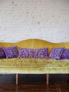 Vintage Guatemalan Throw Pillow