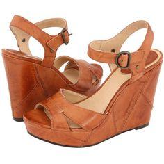 $80.10 Frye Corrina Campus Wedge (Saddle) Women's Wedge Shoes