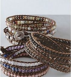 Chan Luu inspired wrap bracelet tutorial