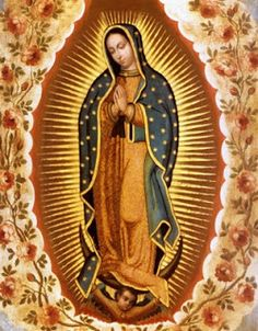 A Catholic Home Journal: Feast of Our Lady of Guadalupe traditional mexican folk art for altar dressings and icon