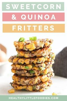 These sweetcorn fritters are a great finger food for kids and toddlers. Delicious hot or cold, theres kid friendly vegetable fritters are so versatile. Enjoy them at breakfast, pack them into the lunchbox or make them part of a quick and easy lunch or dinner. Gluten-free and dairy-free with an egg-free substitute.