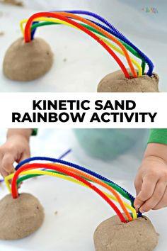 Preschool Color Theme, Rainbow Crafts Preschool, Weather Activities Preschool, Craft Activities For Toddlers, Outside Activities For Kids, Rainbow Activities, Preschool Rooms, Science Experiments For Preschoolers, Preschool Lesson Plans