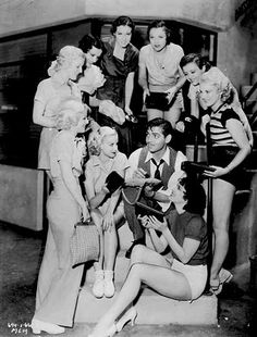 Clark Gable with Carole Lombard, Vivien Leigh, Rosalind Russell, Norma Shearer, Myrna Loy, Loretta Young, Joan Crawford, Hedy Lamarr, Gene Tierney, Ava Gardner, Greta Garbo and friends.