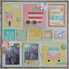 My last layout using Simple Stories Summer Vibes - by Linda Eggleton
